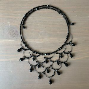 Gothic Layered Necklace with Gemstones